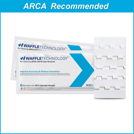Waffletechnology cleaning card for ARCA CM18 Cash Recyclers