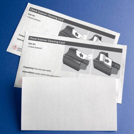 Cleaning Card for Check Scanners with 99.7% IPA - 25 Cards