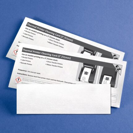 Cleaning Card for Thermal Printers with 99.7% IPA - 2: Media