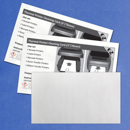 """Cleaning Card for Thermal Printers with 99.7% IPA - 3"""" Media"""
