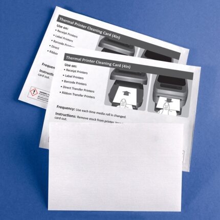"""Cleaning Card for Thermal Printers with 99.7% IPA - 4"""" Media"""
