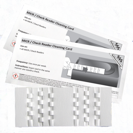 MICR / Check Reader Cleaning Card Featuring Waffletechnology