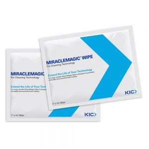 "KICWipes for Cash Handling Technology with MiracleMagic - large 7""x10"" Wipes"