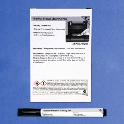 Thermal Printer Cleaning Pen with Chisel, 12 Pens
